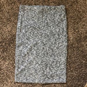 Grey Sweater Skirt from Express